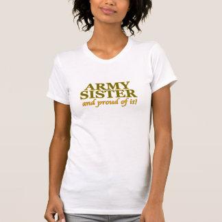 Hermana del ejército y orgulloso de él camiseta