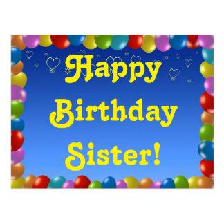 Hermana del feliz cumpleaños de la postal