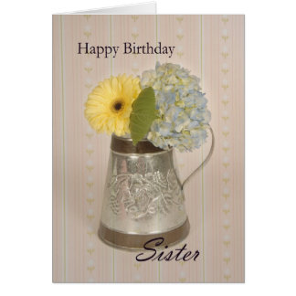 Hermana del feliz cumpleaños tarjetón