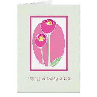 Hermana del feliz cumpleaños felicitacion