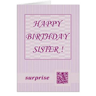 ¡Hermana del feliz cumpleaños! Tarjeta de felicita
