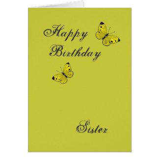 Hermana del feliz cumpleaños tarjeta de felicitación