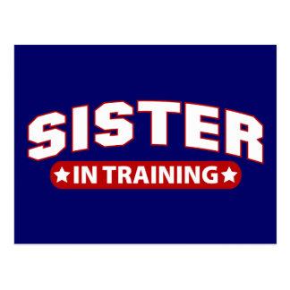 Hermana en el entrenamiento postal