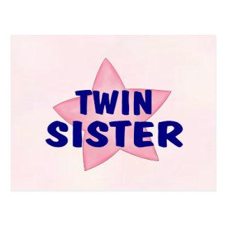 Hermana gemela postal