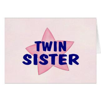 Hermana gemela tarjeta