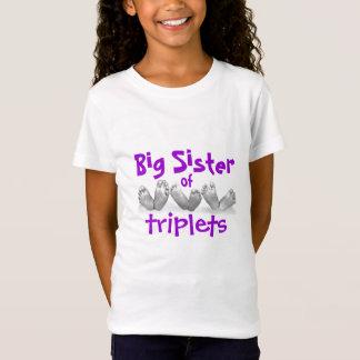 Hermana grande de tríos camiseta