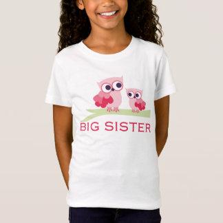 Hermana grande del búho adorable camiseta