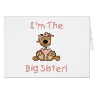 Hermana grande del oso de peluche tarjeta de felicitación