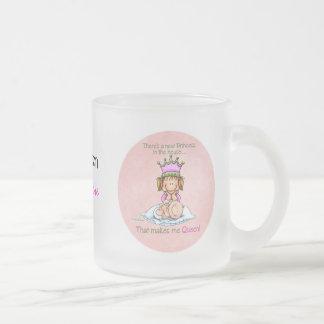 Hermana grande - reina de la princesa taza de café esmerilada