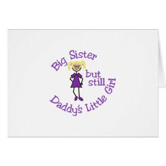 Hermana grande tarjeta de felicitación