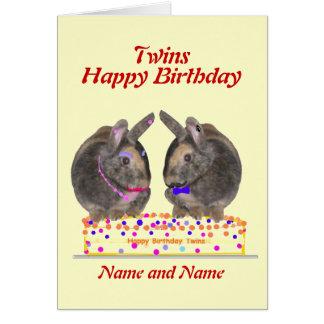 Hermana la tarjeta de cumpleaños hembra-varón