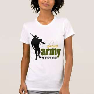 Hermana orgullosa del ejército camisetas