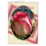 Hermana-personalizar secreto tarjeta de felicitación