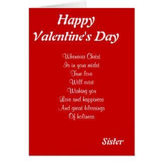 Hermana religiosa del el día de San Valentín Felicitación
