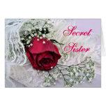 Hermana-Rosa secreto y Cordón-cualquier ocasión Tarjeta De Felicitación