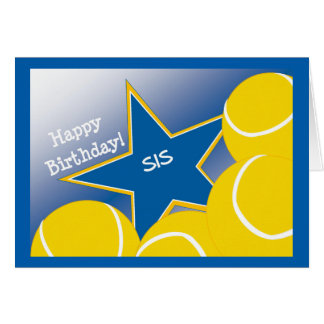 ¡Hermana - tenis del feliz cumpleaños que ama el Tarjeta De Felicitación