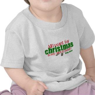 Hermana toda del ejército quiero a la hermana camiseta
