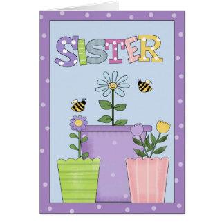 Hermana toda la tarjeta de felicitación de las