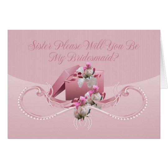 Hermana - usted será mi tarjeta de felicitación de