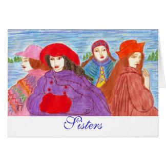 Hermanas, hermanas tarjeta de felicitación