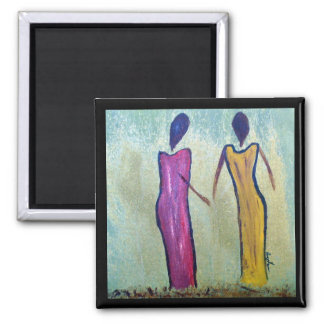 Hermanas - imán africano del arte de las mujeres