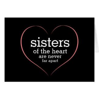 Hermanas inspiradas de la cita del corazón tarjeta de felicitación