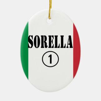 Hermanas italianas: Uno de Sorella Numero Adorno Ovalado De Cerámica