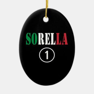 Hermanas italianas: Uno de Sorella Numero Adornos De Navidad