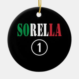 Hermanas italianas: Uno de Sorella Numero Adorno Redondo De Cerámica