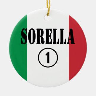 Hermanas italianas: Uno de Sorella Numero Adorno De Navidad