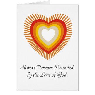 Hermanas limitadas para siempre por el amor ..... tarjeta de felicitación