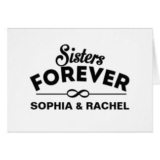 Hermanas para siempre tarjeta de felicitación