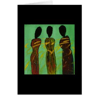 Hermanas simbióticas II - tarjeta étnica en blanco