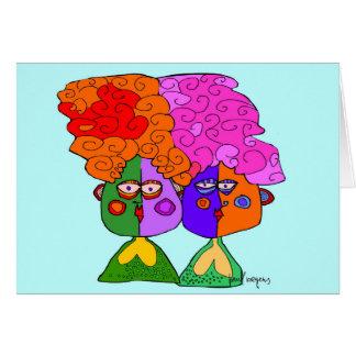 hermanas tarjeta de felicitación