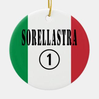 Hermanastras italianas: Uno de Sorellastra Numero Adorno Redondo De Cerámica