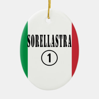 Hermanastras italianas: Uno de Sorellastra Numero Adorno Ovalado De Cerámica