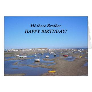 Hermano del feliz cumpleaños tarjeta de felicitación