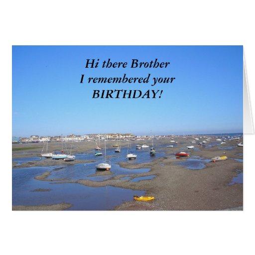 Hermano del feliz cumpleaños felicitación