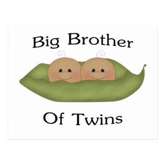 Hermano mayor de gemelos postal