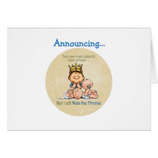 Hermano mayor de gemelos tarjeta de felicitación