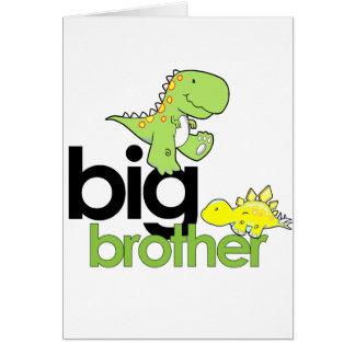 hermano mayor de los dinosaurios tarjeta de felicitación