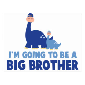 hermano mayor del dinosaurio a ser NUEVO azul Tarjeta Postal