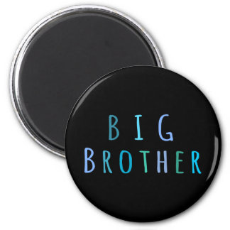 Hermano mayor en azul imán de nevera