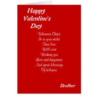 Hermano religioso del el día de San Valentín Felicitaciones