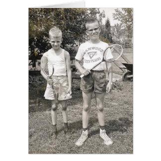 Hermanos del bádminton a partir de los años 60 tarjeta de felicitación