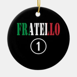 Hermanos italianos: Uno de Fratello Numero Adorno De Navidad