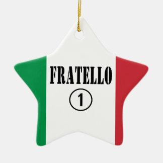 Hermanos italianos: Uno de Fratello Numero Adorno De Cerámica En Forma De Estrella