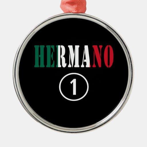 Hermanos mexicanos: Uno de Hermano Numero Ornamento Para Arbol De Navidad