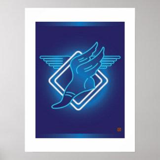 Hermes se fue volando la Sandalia-Impresión Póster
