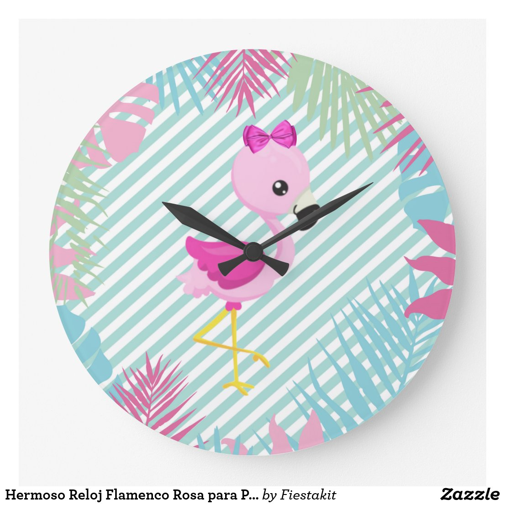 Hermoso Reloj Flamenco Rosa para Personalizar
